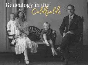 Genealogy in the Goldfields of Western Australia blog header for the Golden Quest Discovery Trail